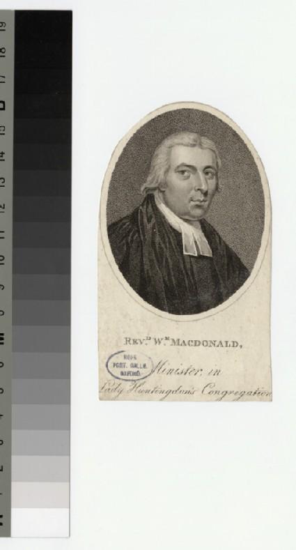 Portrait of W. Macdonald