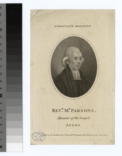 Portrait of Mr Parsons