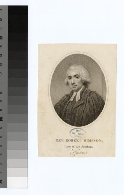 Portrait of R. Simpson