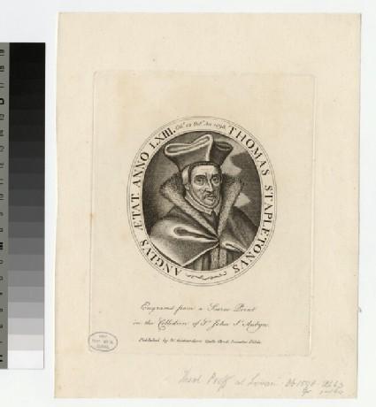 Portrait of Dr T. Stapleton