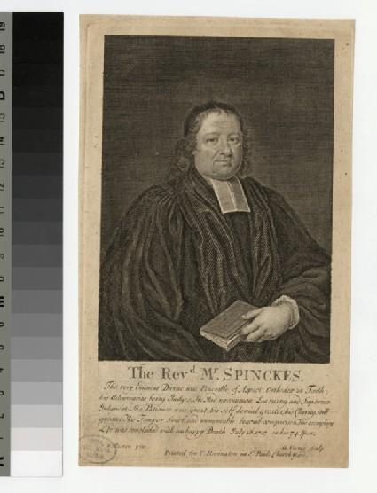 Portrait of Revd Dr N. Spinckes