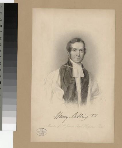 Portrait of Revd Dr H. Stebbing