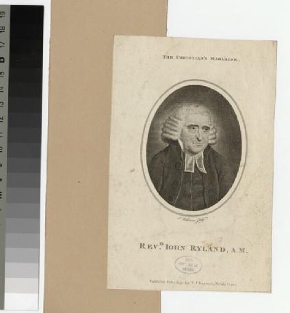 Portrait of Revd John Ryland