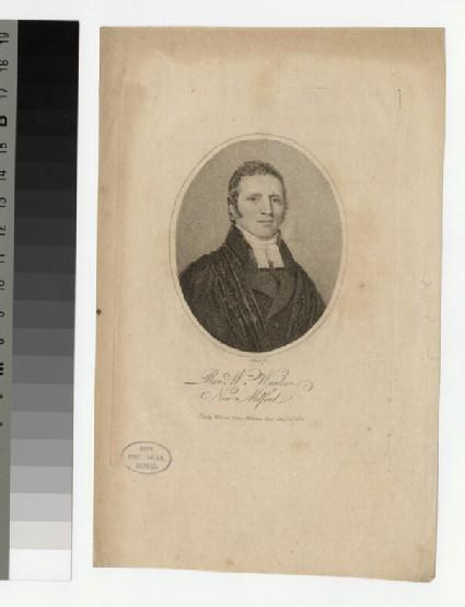 Portrait of W. Warlow
