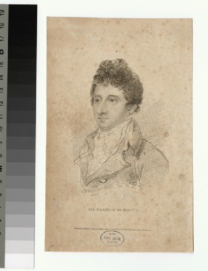 Portrait of F. Burdett