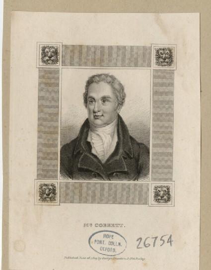 Portrait of W. Cobbett