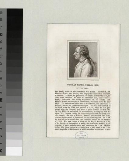 Portrait of Thomas Brand-Hollis