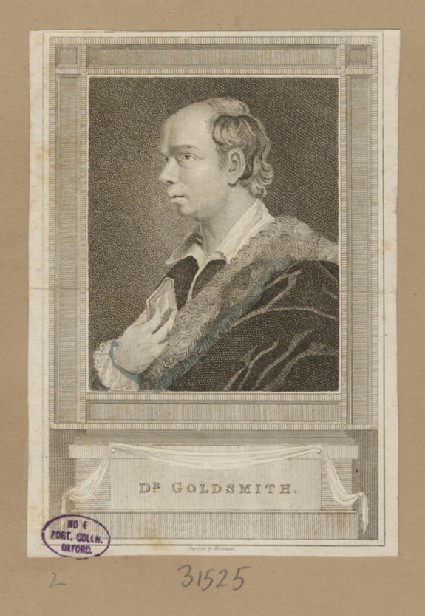 Portrait of O. Goldsmith