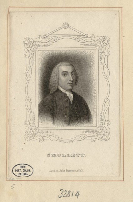 Portrait of T. Smollett