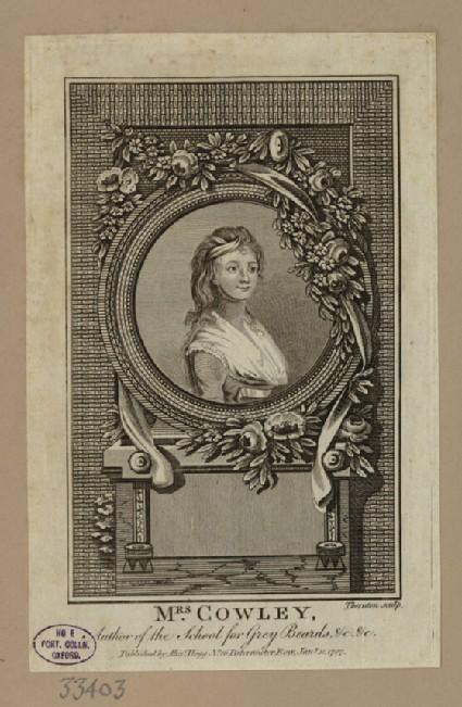 Portrait of Mrs Cowley