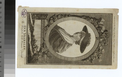 Portrait of Ann Yearsley