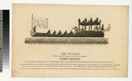 Nelson's Shallop on the Thames