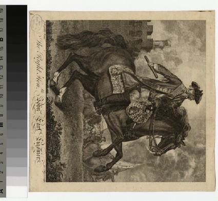 Portrait of Viscount Ligonier on horseback