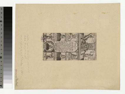 Frontispiece to 'Analecta', depicting Dalton, Littleton, Coke, Crompton and Lambert