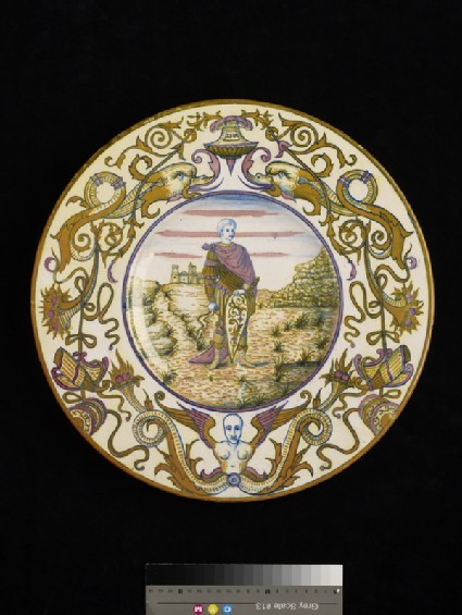 Plate with St George