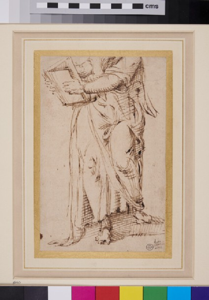 Draped male Figure holding a Book