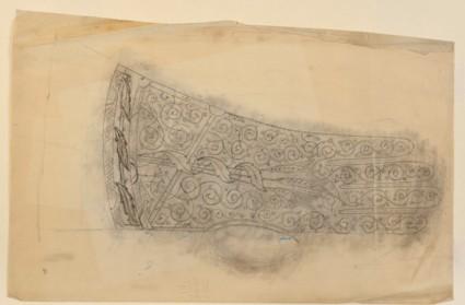 Pounced design for an ecclesiastical glove