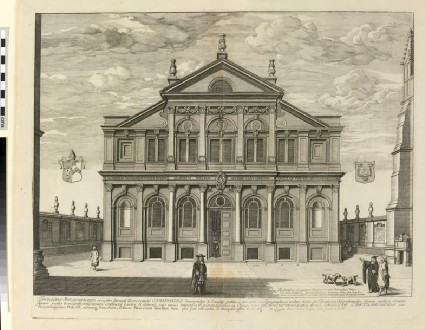 South Front of the Sheldonian Theatre, from 'Oxonia Illustrata' (1675)