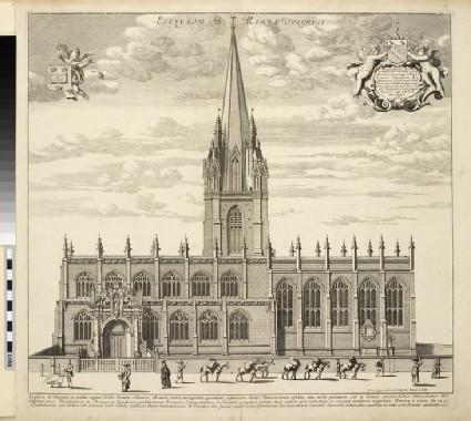 Ecclesia B. Mariae Virginis (University Church of St Mary the Virgin), from 'Oxonia illustrata' (1675)