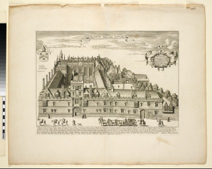 Collegium Omnium Animarum (College of All Souls), from 'Oxonia illustrata' (1675)