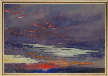 Study of Dawn: purple Clouds