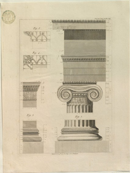 Measured Engraving of an Ionic Capital from the Pandroseion