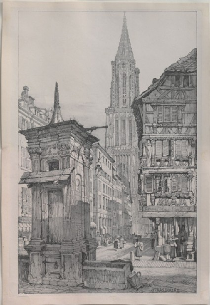The Rue Mercière and west Front of Strasbourg Cathedral