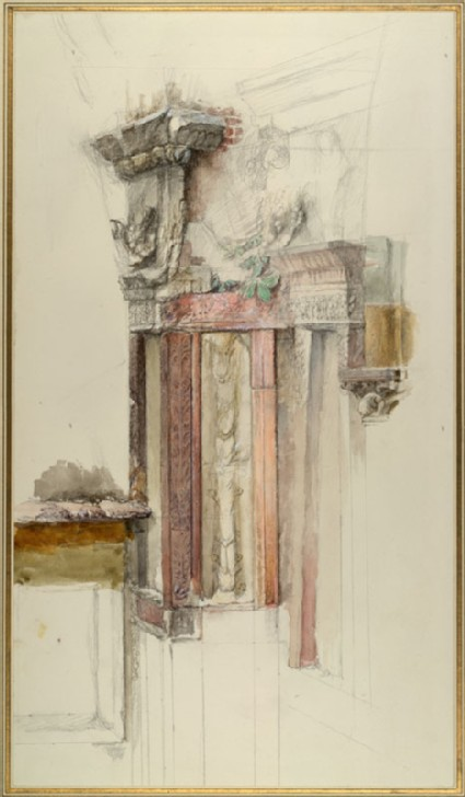 Pilaster on the unfinished Facade of Sant' Anastasia, Verona