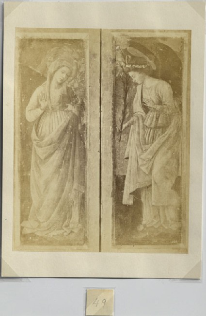 Photograph of Filippo Lippi's 'Virgin Annunciate' and 'Announcing Angel'