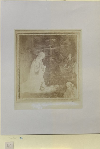 Photograph of Filippo Lippi's 'Adoration of the Infant Jesus' ('The Camaldoli Adoration')