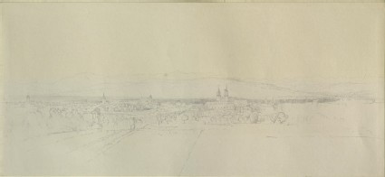 Basle (Basel), with Outline of the Mountains of the Black Forest