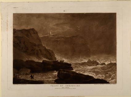Coast of Yorkshire, near Whitby (from the Liber Studiorum)