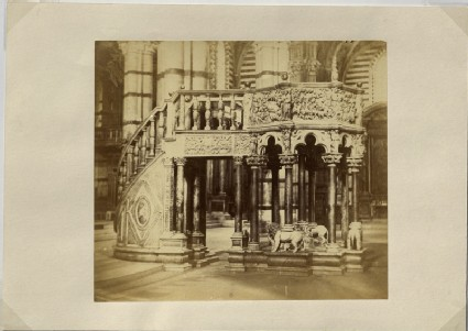 Photograph of Nicola Pisano's Siena Pulpit