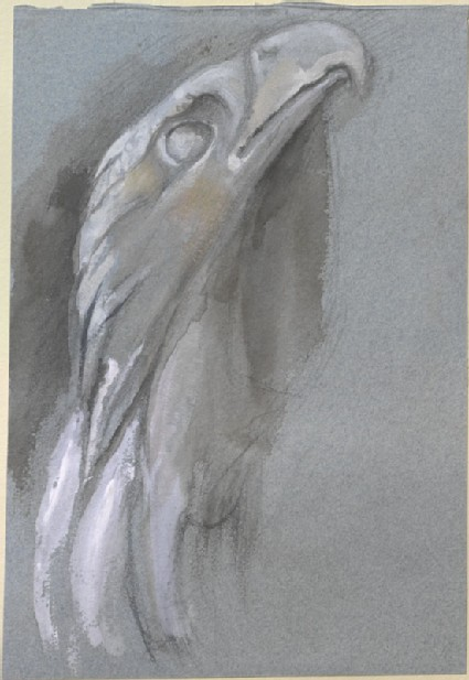 Sketch of an Eagle from Giovanni Pisano's Pulpit in the Duomo, Pisa