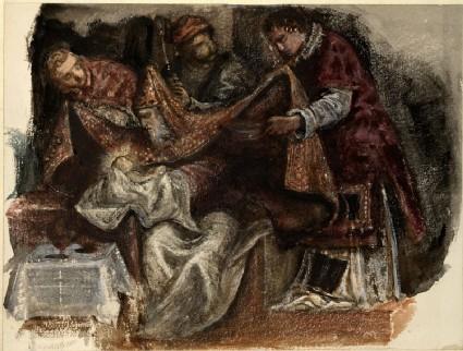 Study from Tintoretto's 'Circumcision' in the Scuola Grande di San Rocco