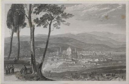 Engraving of Turner's 'Florence, from Fiesole'