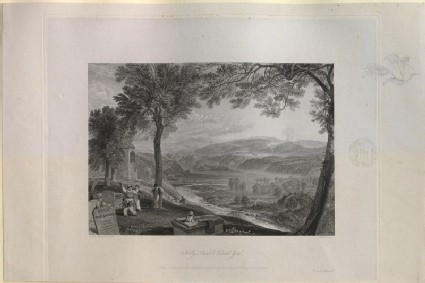 Engraving of Turner's 'Kirby Lonsdale Churchyard'
