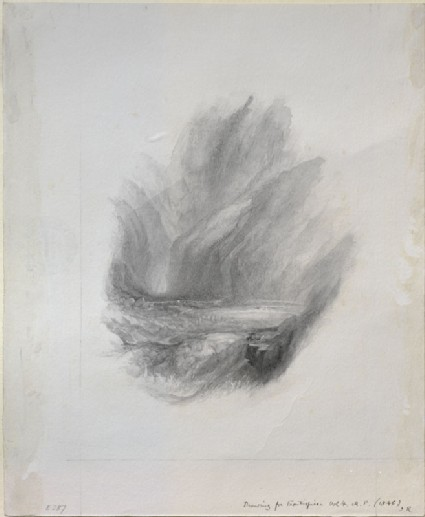 Study in Neutral Tint of Turner's 'The Pass of Faido'