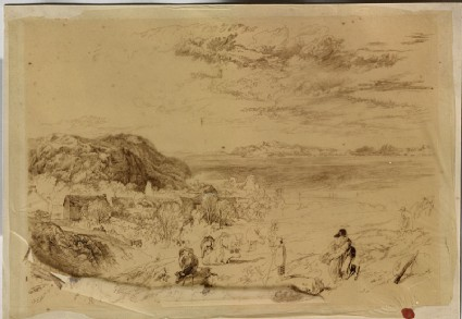 Tracing of Turner's 'Heysham and Cumberland Mountains'