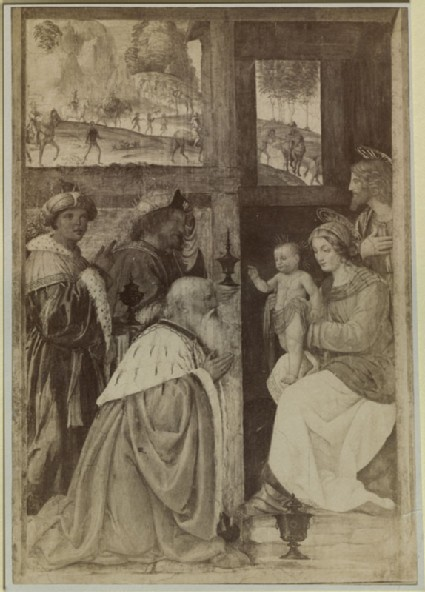 Photograph of Bernardino Luini's 'Adoration of Magi' in the Louvre