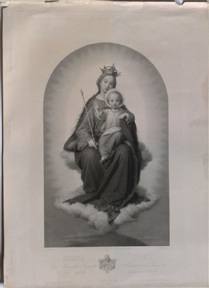 Engraving of Ernst Deger's 'Virgin as Queen of Heaven'