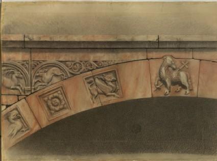 The Cornice of the Porch of the Duomo, Verona