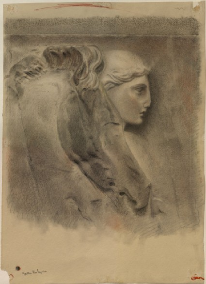 Study of the Heads of a Horse and a Youth, from the Parthenon Frieze