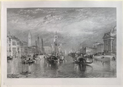 Engraving of Turner's 'Venice, from the Porch of Madonna della Salute'
