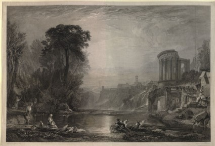 Engraving of Turner's 'Landscape: Composition of Tivoli'