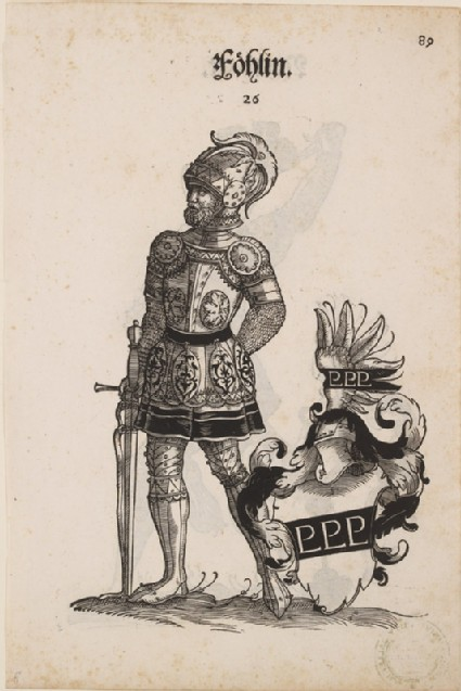 Recto: A Man in Armour with the Arms of Föhlin 