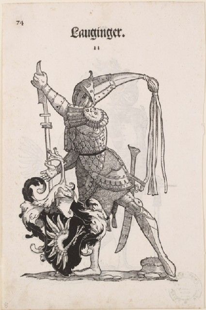 Recto: A Man in Armour with the Arms of Lauginger 