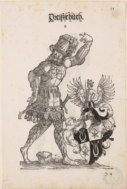 Recto: A Man in Armour with the Arms of Preißschüch <br />Verso: A Man in Armour with the Arms of Im Hofe