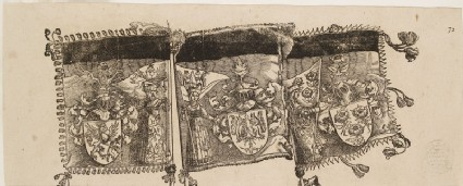 Heraldic Banners (cut from a Plate in 'The Triumph of Maximilian')