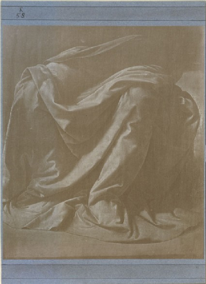 Photograph of a Study of Drapery for a seated Figure by Leonardo da Vinci
